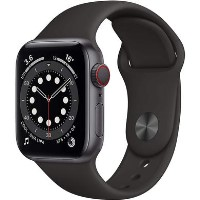 Apple Watch Series 6 GPS - 44mm Space Gray Aluminium Case with Black Sport Band - Regular