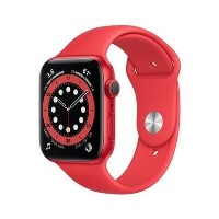 Apple Watch Series 6 GPS - 44mm RED Aluminium Case with RED Sport Band - Regular