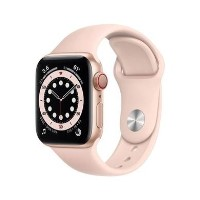 Apple Watch Series 6 GPS + Cellular - 40mm Gold Aluminium Case with Pink Sand Sport Band - Regular