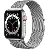 Apple Watch Series 6 GPS + Cellular - 40mm Silver Stainless Steel Case with Silver Milanese Loop