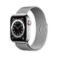 Apple Watch Series 6 GPS + Cellular - 44mm Silver Stainless Steel Case with Silver Milanese Loop