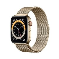 Apple Watch Series 6 GPS + Cellular - 44mm Gold Stainless Steel Case with Gold Milanese Loop