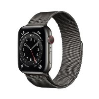 Apple Watch Series 6 GPS + Cellular - 44mm Graphite Stainless Steel Case with Graphite Milanese Loop