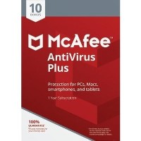 McAfee Antivirus Plus 10 Devices 1 Year Subscription - Electronic Software Download