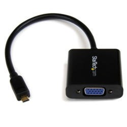 StarTech.com Micro HDMI® to VGA Adapter Converter for Smartphones / Ultrabook / Tablet - 1920x1080