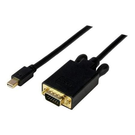 15 ft Mini DisplayPort™ to VGA Adapter Converter Cable – mDP to VGA 1920x1200 - Black