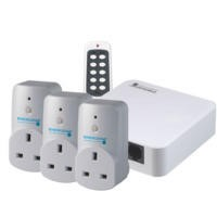 Energenie MiHome Starter Pack Home Gateway + 3 x Home Adapter + 1 x Remote