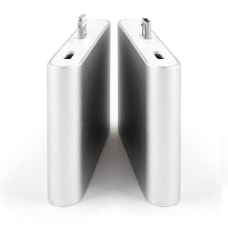 Plug & Go Wire-Free Mini Power Bank With Built In Micro USB Connector 1000mAh Silver