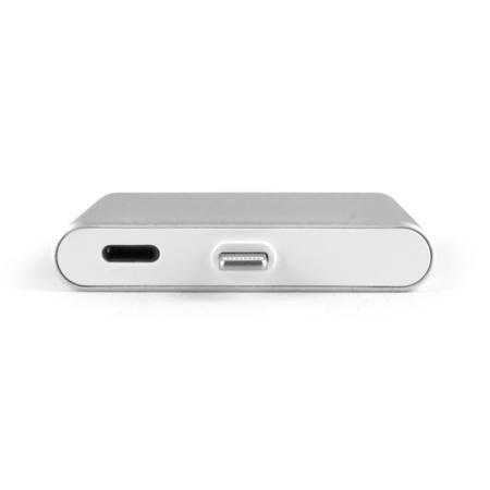 Plug & Go Wire-Free Mini Power Bank With Built In Lightning Connector 1000mAh Silver