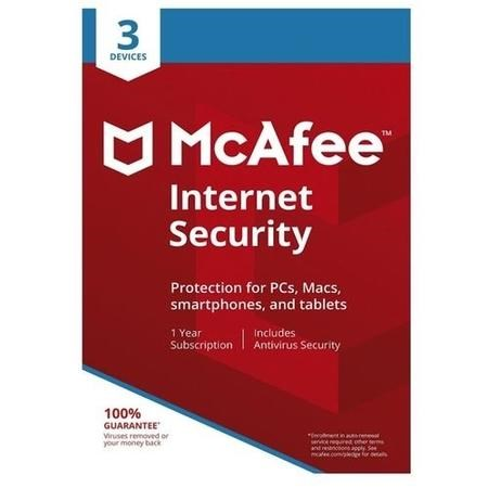 McAfee Internet Security - 3 Device - 12 Month Subscription