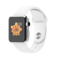 Apple Watch Series 1 38mm Stainless Steel with White Sport Band