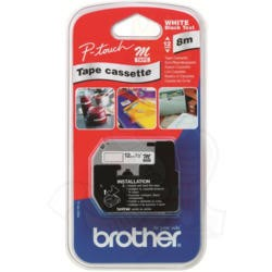 BROTHER BLUE ON WHITE 12MM TAPE