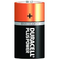 Duracell Plus Power D Size 1 x 2 Pack