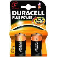 Duracell Plus Power C Size 1 x 2 Pack