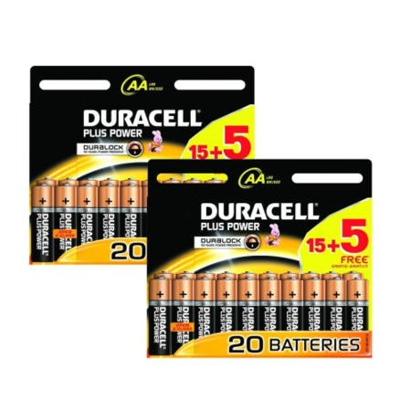 Duracell Plus AA Battery 20 x 2 Pack