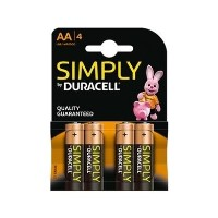 Duracell Simply AA Battery 1 x 4 Pack