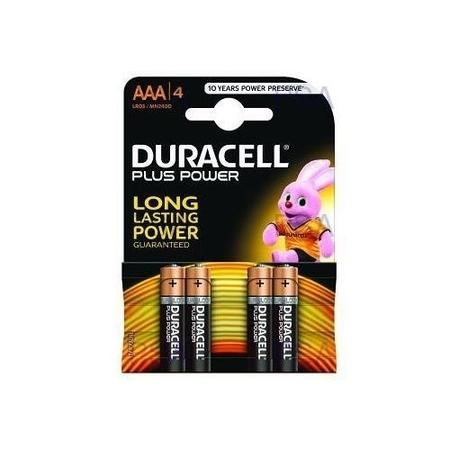 Duracell Plus Power AAA 4 Pack