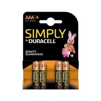Duracell Simply AAA Battery 1 x 4 Pack