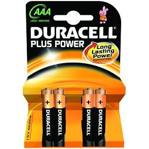 General Battery Duracell Plus Power AAA 4 Pack