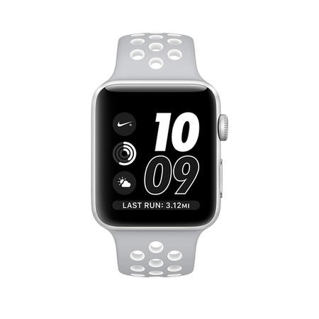 MNNQ2B/A Apple Watch 2 Nike+ 38MM Silver Aluminium Case Silver/White Sport Band
