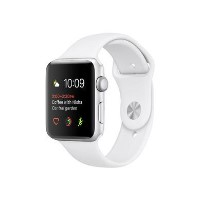 Apple Watch Series 2 38mm Silver Aluminium Case with White Sports Band
