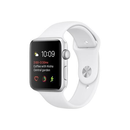 Apple Watch 2 38MM Silver Aluminium Case White Sports Band