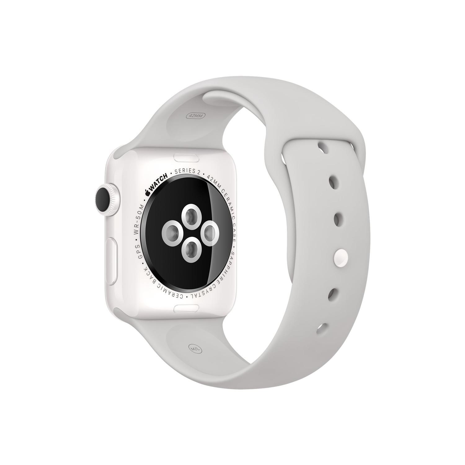 38MM White Ceramic Case Cloud Sport