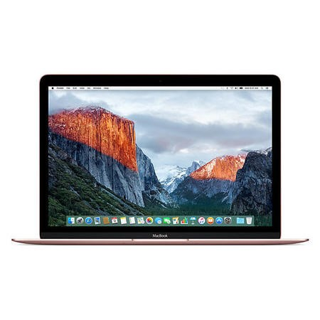 Refurbished Apple MacBook Core M3 8GB 256GB SSD 12 Inch Laptop in Rose Gold