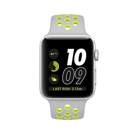 MNYP2B/A Apple Watch 2 Nike+ 38MM Silver Aluminium Case Silver/Volt Sport Band