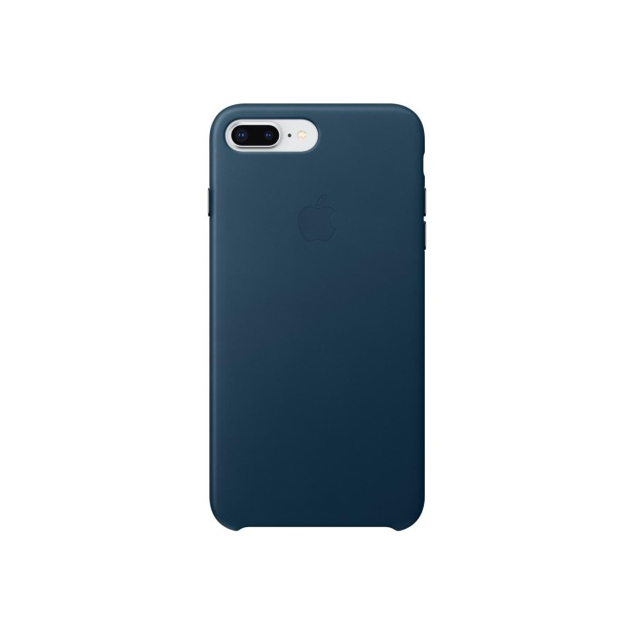 new style aba0b b4e5b Apple iPhone 8 Plus / 7 Plus Leather Case - Cosmos Blue