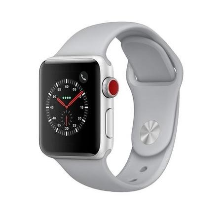 MQKF2B/A Apple Watch Sport Series 3 GPS + Cellular 38mm Silver Aluminium Case with Fog Sport Band