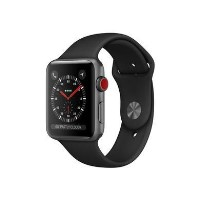Grade A Apple Watch Sport Series 3 GPS + Cellular 38mm Space Grey Aluminium Case with Black Sport Band