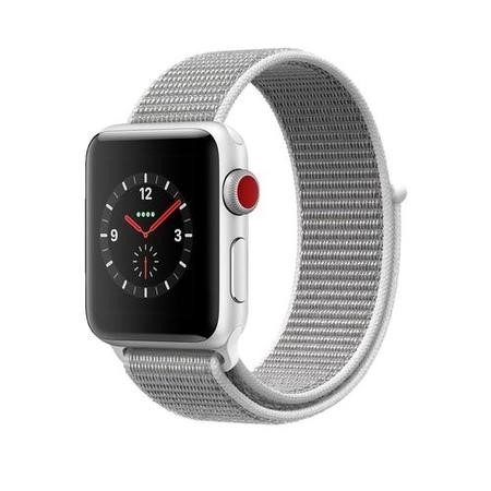 Grade A Apple Watch Sport Series 3 GPS + Cellular 38mm Silver Aluminium Case with Seashell Sport Loop
