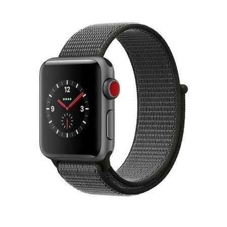 Apple Watch Sport Series 3 GPS + Cellular 38mm Space Grey Aluminium Case with Dark Olive Sport Loop