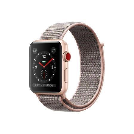 MQKL2B/A Apple Watch Sport Series 3 GPS + Cellular 38mm Gold Aluminium Case with Pink Sand Sport Loop