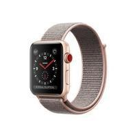 Apple Watch Sport Series 3 GPS + Cellular 38mm Gold Aluminium Case with Pink Sand Sport Loop