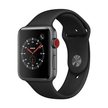 MQKN2B/A Apple Watch Sport Series 3 GPS + Cellular 42mm Space Grey Aluminium Case with Black Sport Band