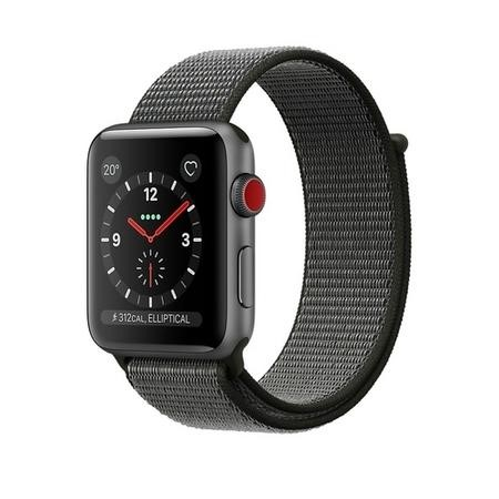 Apple Watch Sport Series 3 GPS + Cellular 42mm Space Grey Aluminium Case with Dark Olive Sport Loop