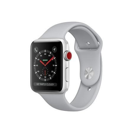 MQKU2B/A Apple Watch Series 3 GPS 38mm Silver Aluminium Case with Fog Sport Band