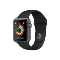 Grade A Apple Watch Sport Series 3 GPS 38mm Space Grey Aluminium Case with Black Sport Band