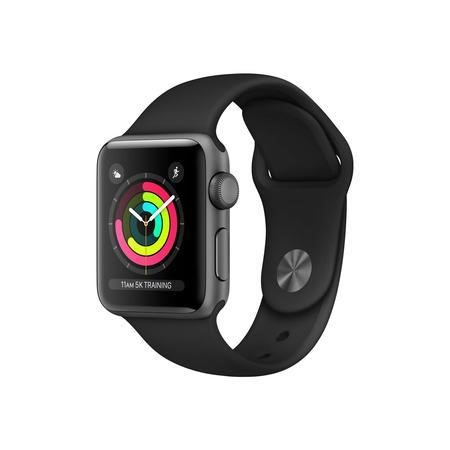 Apple Watch Sport Series 3 GPS 38mm Space Grey Aluminium Case with Black Sport Band