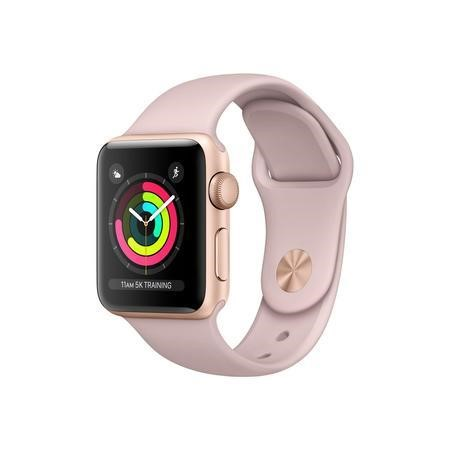 MQKW2B/A Apple Watch Series 3 GPS 38mm Gold Aluminium Case with Pink Sand Sport Band