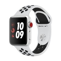 Grade A Apple Watch Series 3 Nike+ GPS 38mm Silver Aluminium Case with Pure Platinum/Black Sport Band