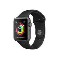 Apple Watch Series 3 GPS 42mm Space Grey Aluminium Case with Black Sport Band