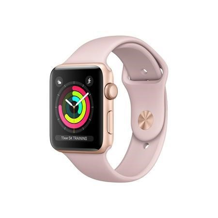 MQL22B/A Apple Watch Series 3 GPS 42mm Gold Aluminium Case with Pink Sand Sport Band