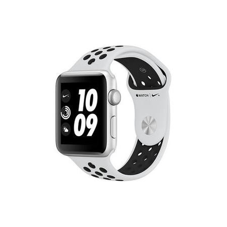 MQL32B/A Apple Watch Series 3 Nike+ GPS 42mm Silver Aluminium Case with Pure Platinum/Black Sport Band