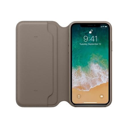 MQRY2ZM/A Apple iPhone X Leather Folio - Taupe