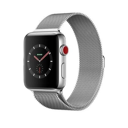 77476270/1/MR1U2B/A GRADE A1 - Apple Watch Series 3 GPS + Cell 42mm Stainless Steel Case with Milanese Loop