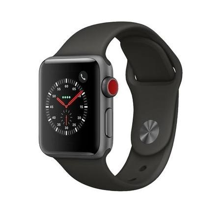 MR2Y2B/A Apple Watch Sport Series 3 GPS + Cellular 38mm Space Grey Aluminium Case with Grey Sport Band