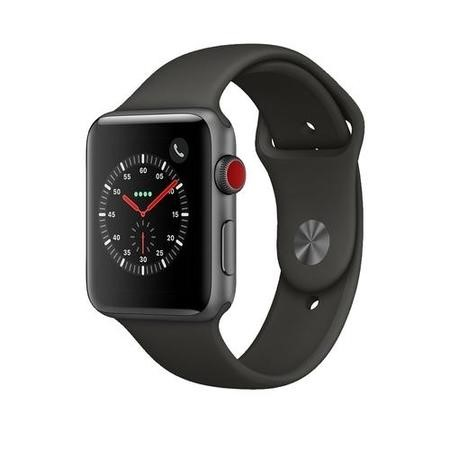 MR302B/A Apple Watch Sport Series 3 GPS + Cellular 42mm Space Grey Aluminium Case with Grey Sport Band